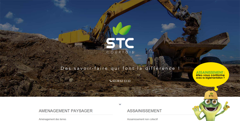 site one page responsive Stc Courtois