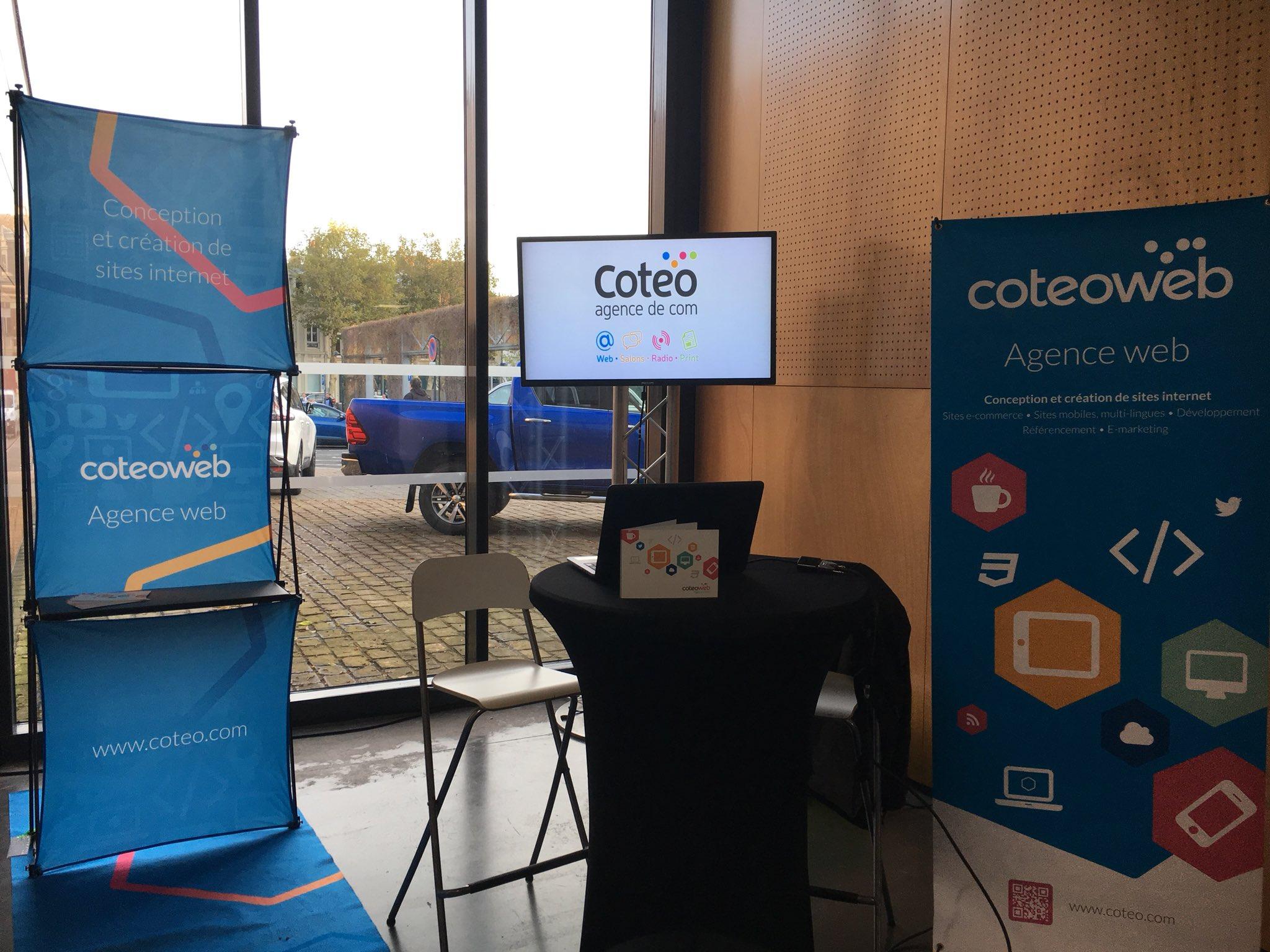 Agence coteo coteo web pr sent au salon entreprises et for Salon entreprise